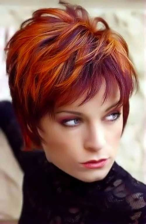 Elegant pin on hairstyle Red Short Hair Styles Choices