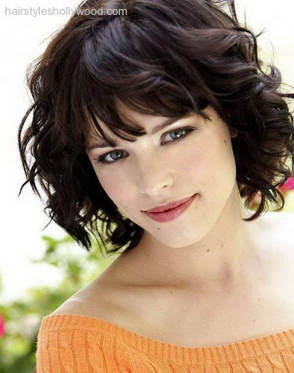 Elegant pin on hairstyles for round faces Short Hairstyles For Thick Curly Hair Round Face Ideas