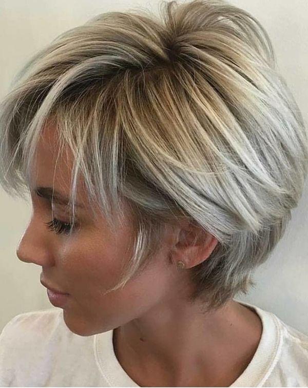 Elegant pin on short hair looks Short Blonde Hair Styles Choices