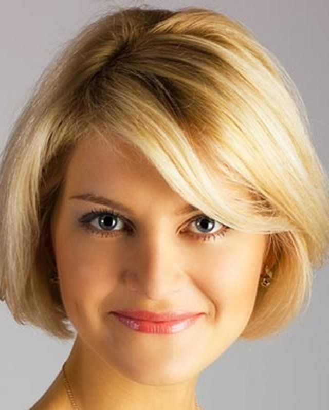 Elegant pin on thin hair Short Hairstyles For Round Faces And High Foreheads Choices