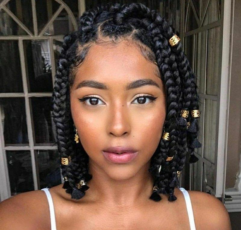 Elegant pinterest kayabrigette natural hair styles braided Braid Styles For Short Natural Hair Inspirations