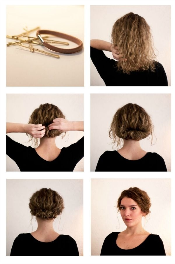 Elegant quick and easy hairstyle tutorials for short hair short Easy Everyday Hairstyles For Short Curly Hair Inspirations