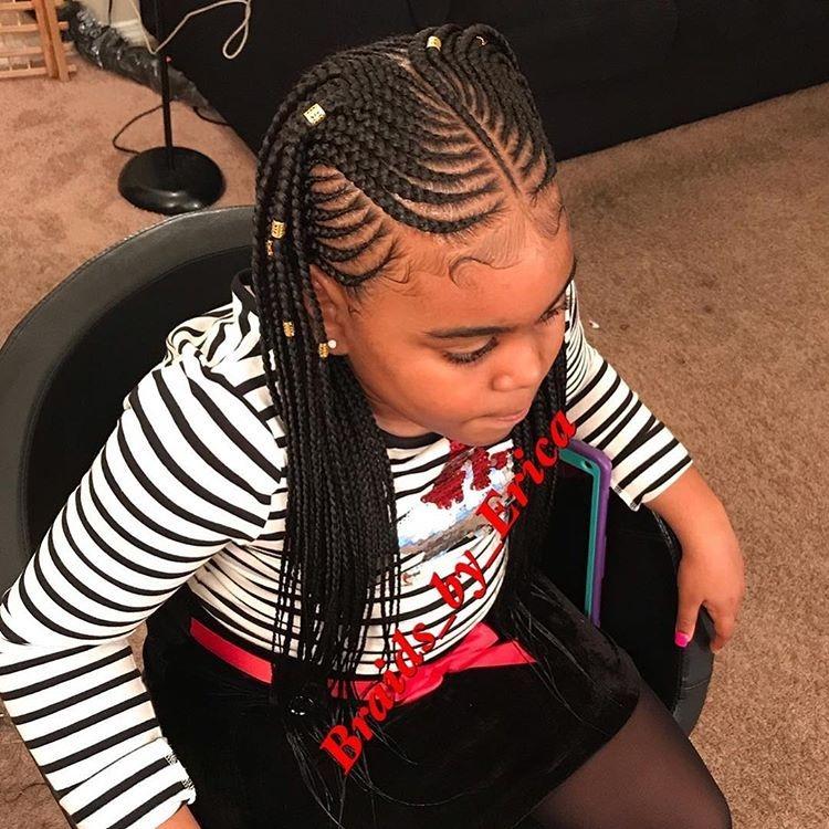Elegant style inspired kiaharperbraids feedinbraids Black Kids Braids Hairstyles Pictures Inspirations