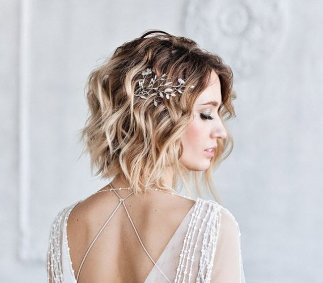 Elegant tips on choosing bridal headpieces for girls with short hair Cute Short Hairstyles For Bridesmaids Ideas