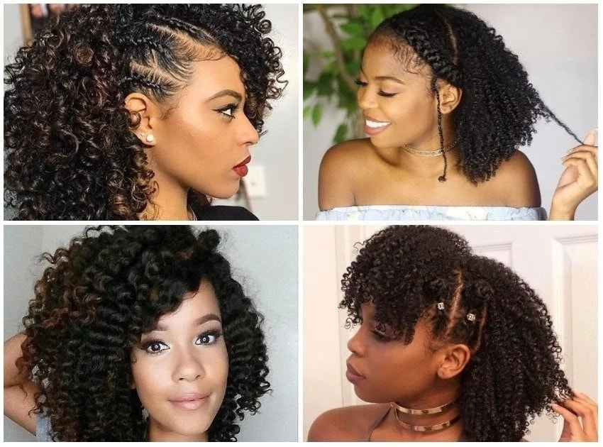 Elegant top 30 black natural hairstyles for medium length hair in 2020 Simple Hairstyles Natural African American Hair Designs