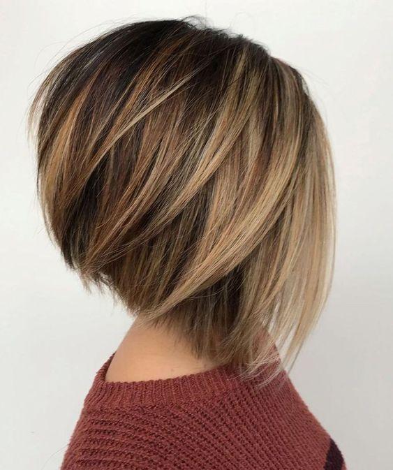Elegant trendy balayage short hairstyles and haircuts short hair Short Hairstyles And Color Ideas Inspirations