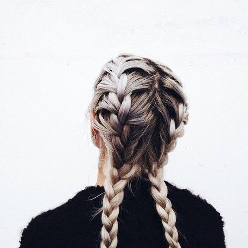 Elegant two braids tumblr google search hair styles hair Hairstyles Braids Tumblr Easy Choices