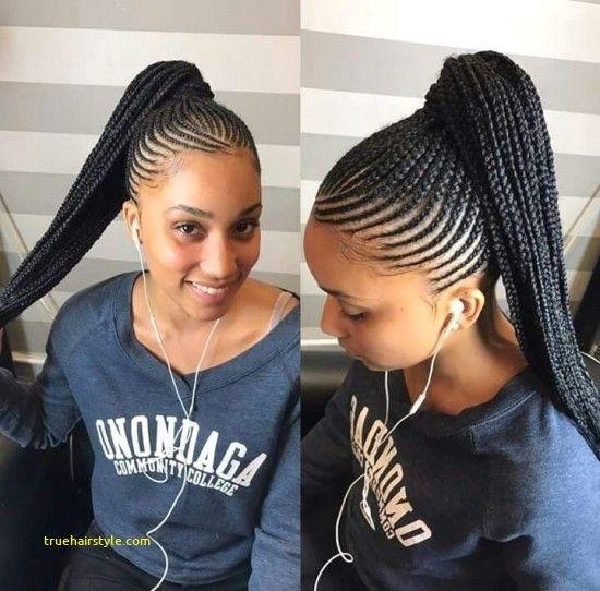 Elegant unique braided straight up hairstyles braided ponytail Braids Straight Up Hairstyles Choices