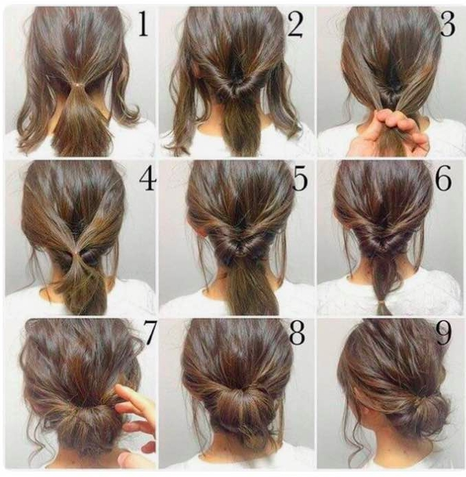 Elegant updo as easy as it gets hair styles short hair styles Hairstyle For Short Hair For Party Step By Step Ideas