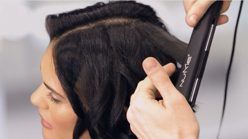Elegant watch hey hair genius how to curl short hair with a Styling Short Hair With Flat Iron Choices