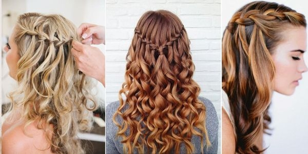 Elegant wwvhairstylestrends curly hair pictures waterfall Braided Hairstyles For Curly Medium Length Hair Ideas