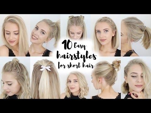 Fresh 10 easy hairstyles for short hair youtube Easy Hairdos For Short Hair Inspirations