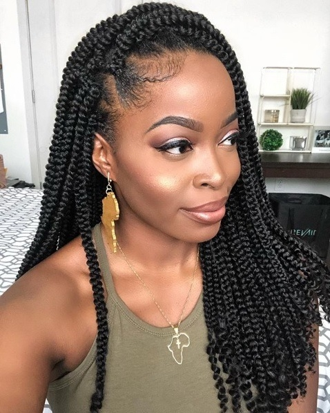 Fresh 105 best braided hairstyles for black women to try in 2020 Braid Black Hair Hairstyles Female Inspirations