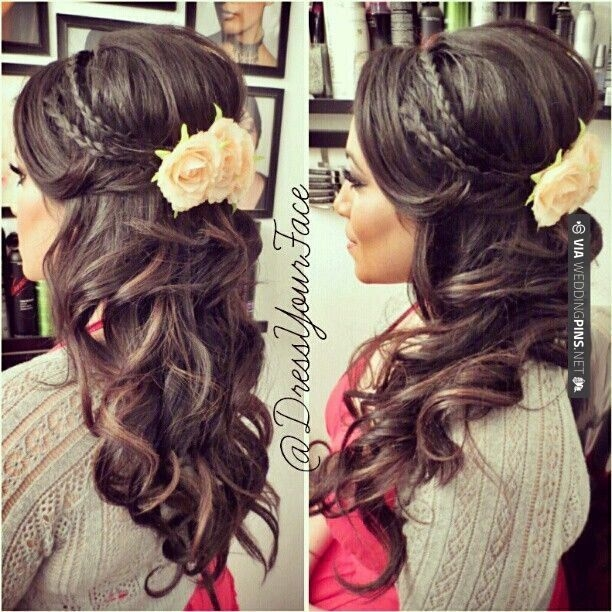 Fresh 15 latest half up half down wedding hairstyles for trendy Wedding Hairstyles For Long Hair Half Up Half Down With Braids Inspirations