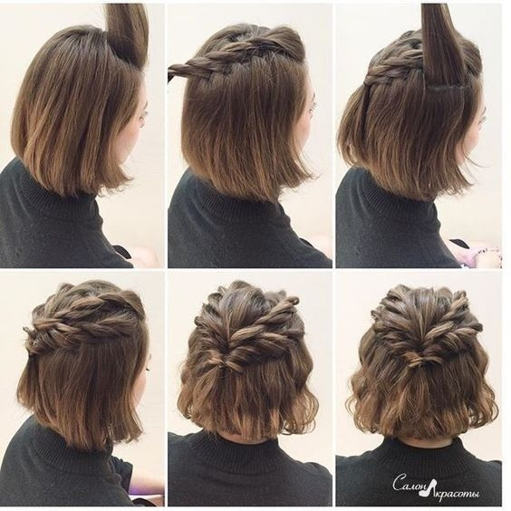 Fresh 20 gorgeous prom hairstyle designs for short hair prom Prom Hairstyles For Short Hair With Braids Inspirations