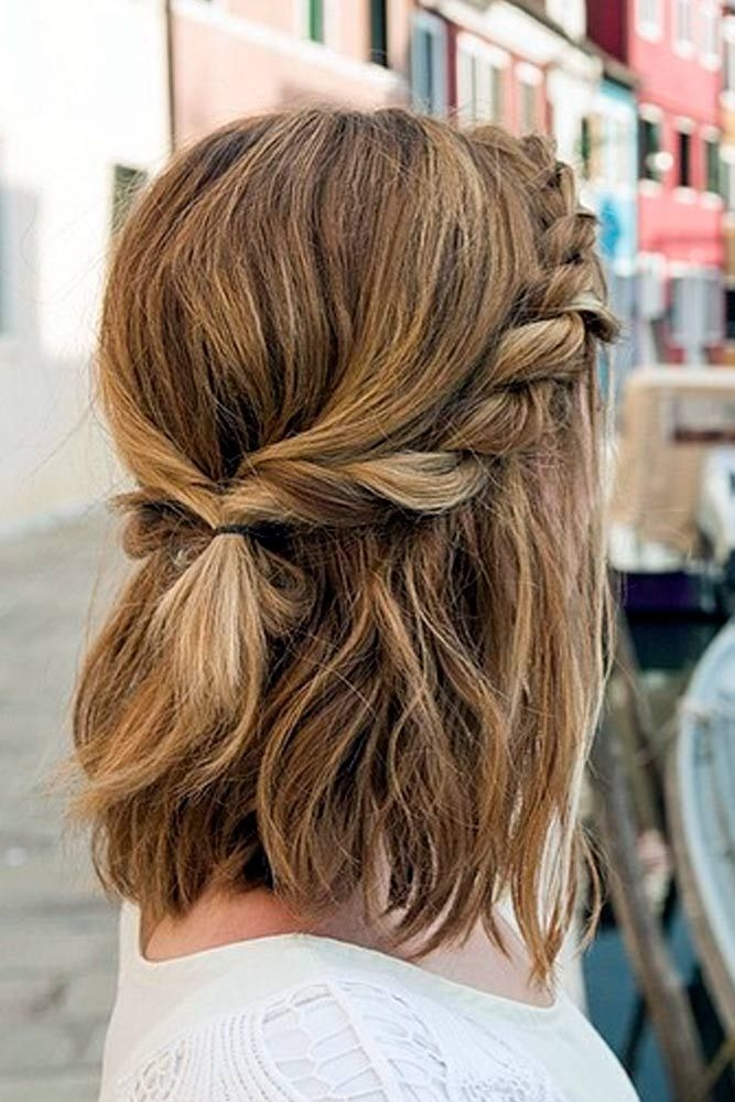 Fresh 21 lovely medium length hairstyles to wear at date night Braided Hairstyles For Medium Length Hair With Layers Choices