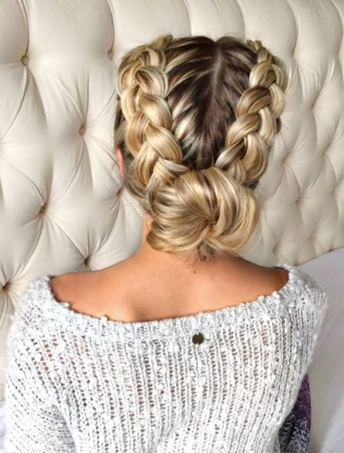 Fresh 29 gorgeous braided updos for every occasion in 2020 Braid Bun Hairstyles For Medium Hair Choices