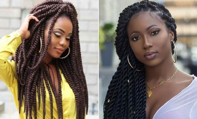 Fresh 43 eye catching twist braids hairstyles for black hair Natural Hair Braid Twist Styles Choices