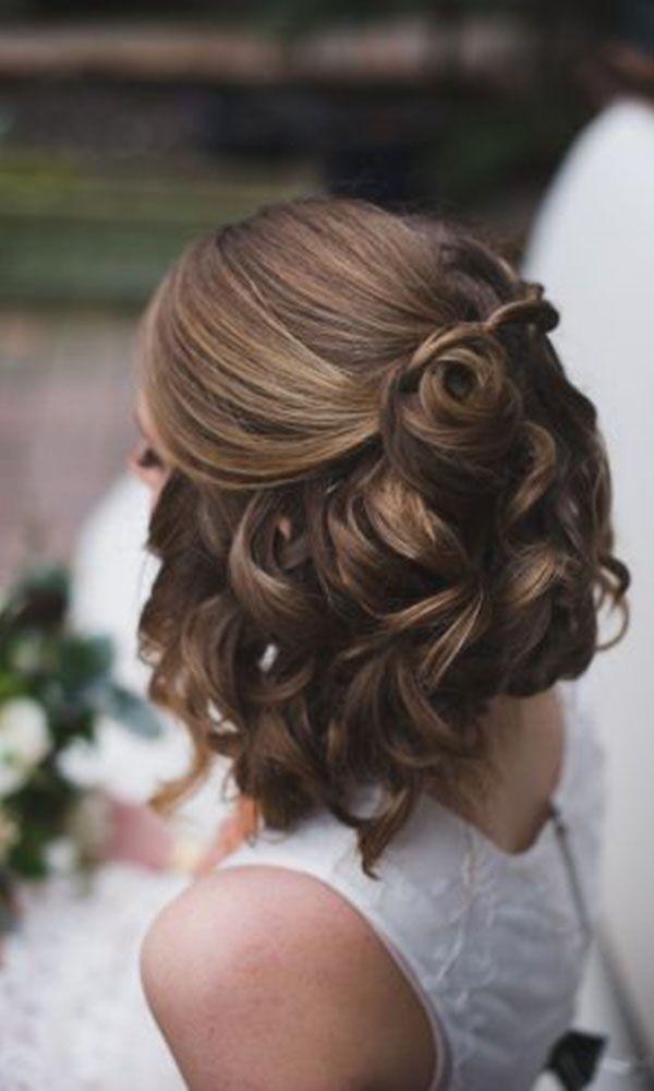 Fresh 48 trendiest short wedding hairstyle ideas wedding forward Style Short Hair For Wedding Inspirations