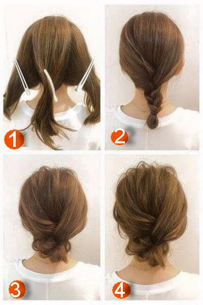 Fresh 50 incredibly easy hairstyles for school to save you time Simple Hairstyles For Very Short Hair Step By Step Inspirations