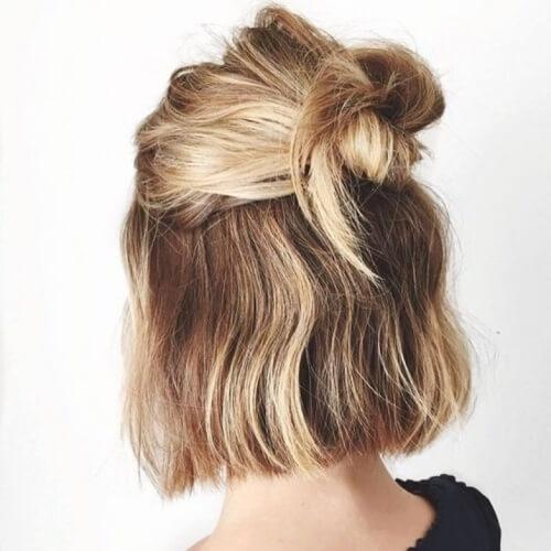 Fresh 59 cute easy updos for short hair 2020 styles Easy Updos For Short Hair Casual Choices