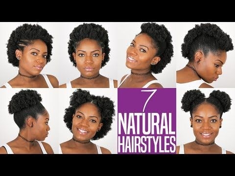 Fresh 7 natural hairstyles for short to medium length 4bc natural Short Black Hairstyles To Do At Home Ideas