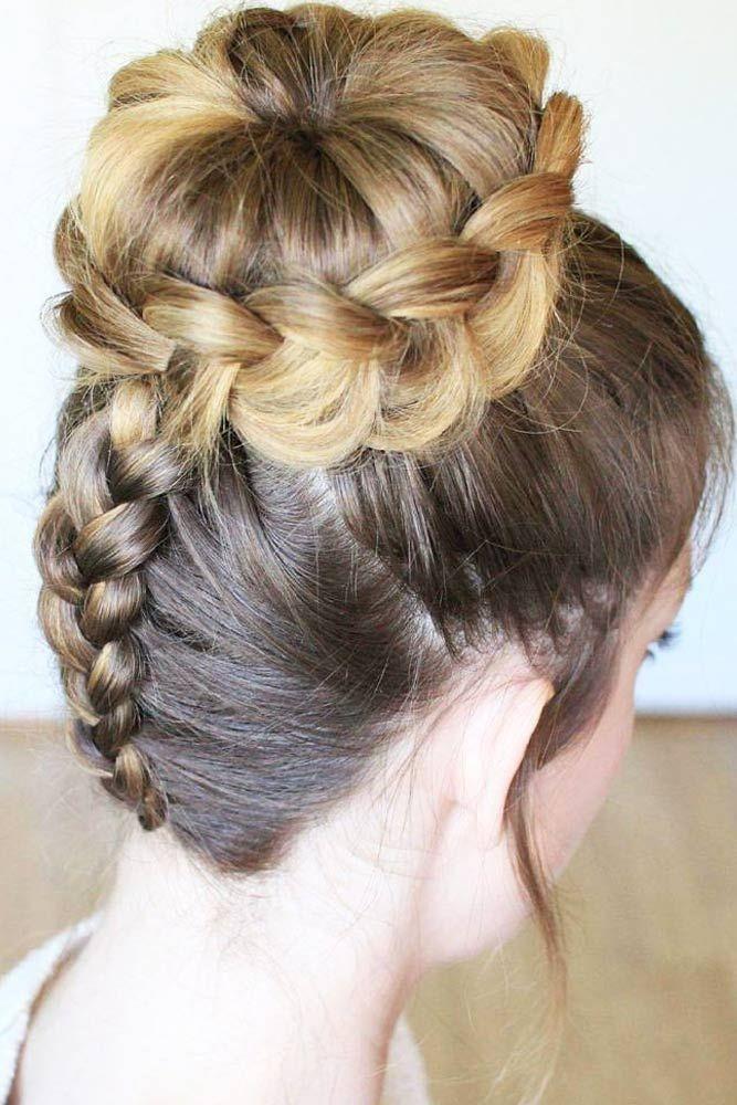 Fresh 70 cute and creative dutch braid ideas lovehairstyles Dutch Braid Updo Long Hair Choices