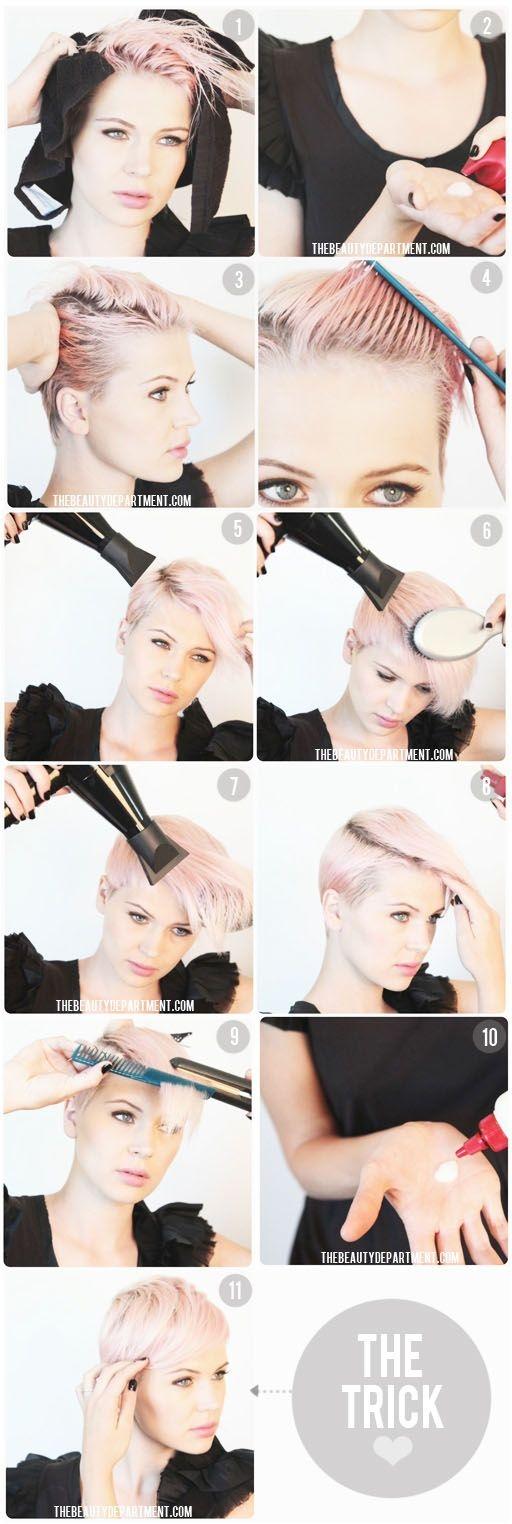 Fresh chic combover short hair styles hair styles short hair Styling Ideas For Really Short Hair Ideas