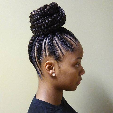 Fresh cornrows ponytail natural hair styles cornrow ponytail Updo Braid Styles For Black Hair Inspirations