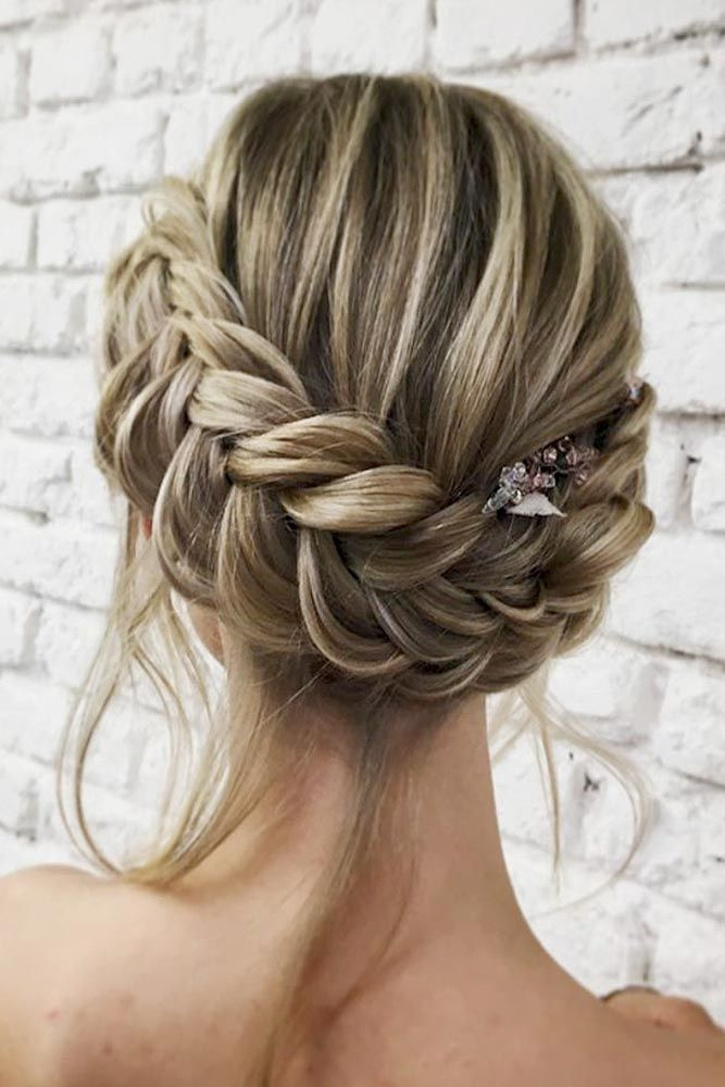 Fresh dutch braid updo with loose locks braided hairstyles for Dutch Braid Updo Long Hair Inspirations