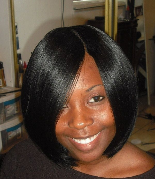 Fresh easy short weave hairstyle for black women round face Short Weave Hairstyles For Round Faces Ideas