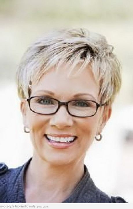 Fresh hairstyles for women over 50 with glasses short hair Glasses For Short Hair Styles Ideas