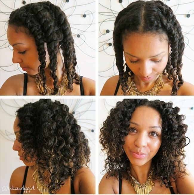 Fresh how to blend your transitioning hair with a twist out Braid Out Styles Relaxed Hair Inspirations