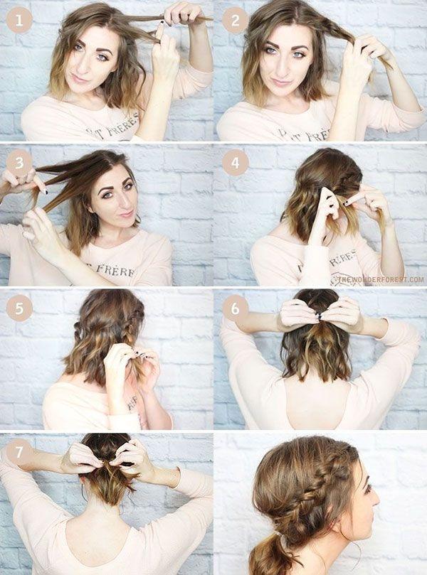 Fresh medium length hairstyles for school short hair ponytail Short Hair Styling Tutorials Choices