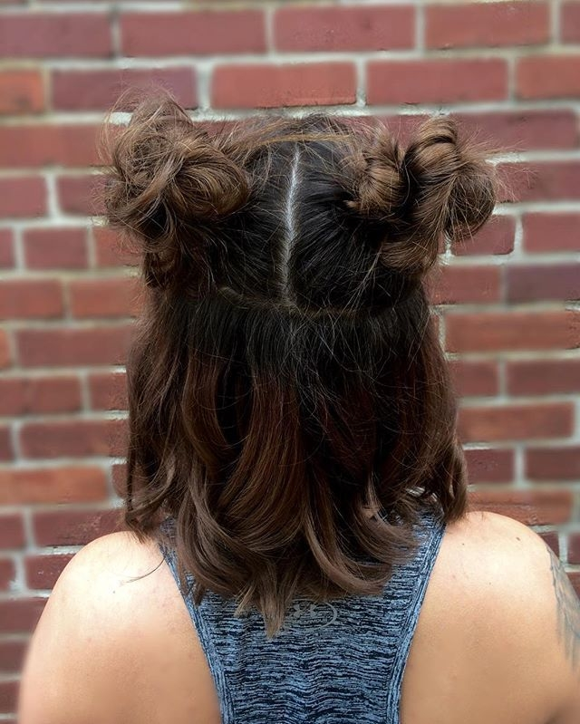 Fresh pigtail bun inspiration for every hair type cute Cute Bun Hairstyles For Short Hair Choices