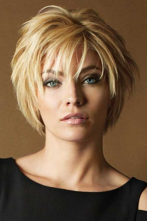 Fresh pin on hair beauty styles Layered Short Haircuts With Bangs Ideas