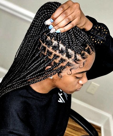 Fresh small box braids for summer in 2020 braided hairstyles Black Braids Hair Styles Inspirations