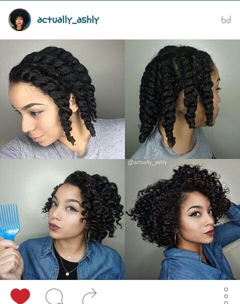 Fresh started on wet hair made 9 flat twists let hair air dry Braid Out On Wet Short Natural Hair Ideas
