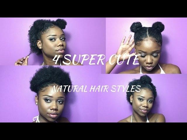 Fresh super cute hairstyles for short natural hair half up Quick Updos For Short Black Hair Ideas