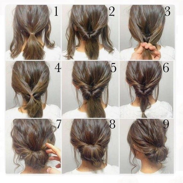 Fresh top 100 easy hairstyles for short hair photos what a Short Hair Updo Ideas Pinterest Inspirations