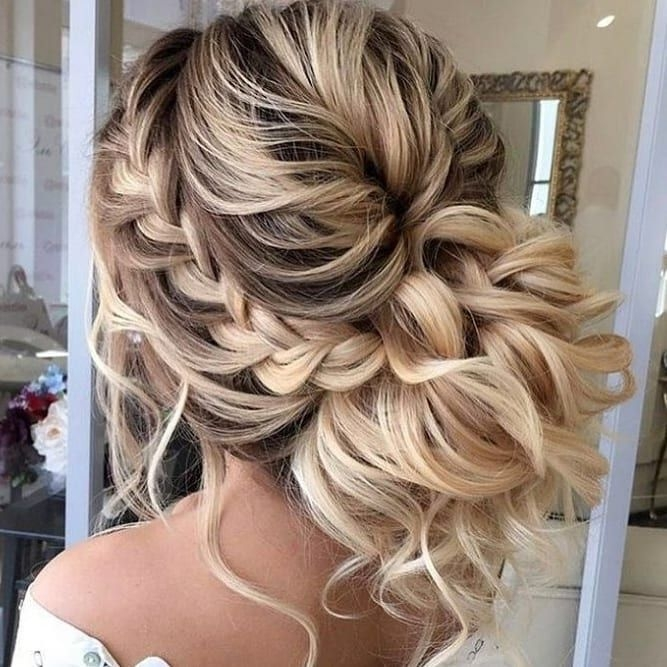 Fresh wedding braided hairstyle wedding hair inspiration hair Wedding Prom Hairstyle For Long Hair. Braided Updo Inspirations