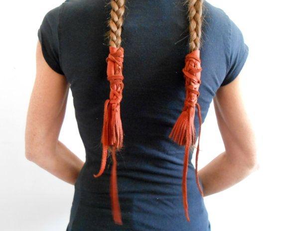 leather braid wraps with fringe native faemoonwolfdesigns Native American Braid Wraps Ideas