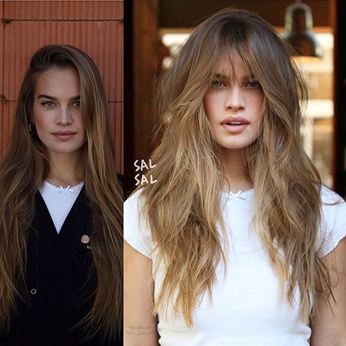 long layered hair with side bangs best hairstyles and Long Hair With Short Layers On Top And Side Bangs Inspirations