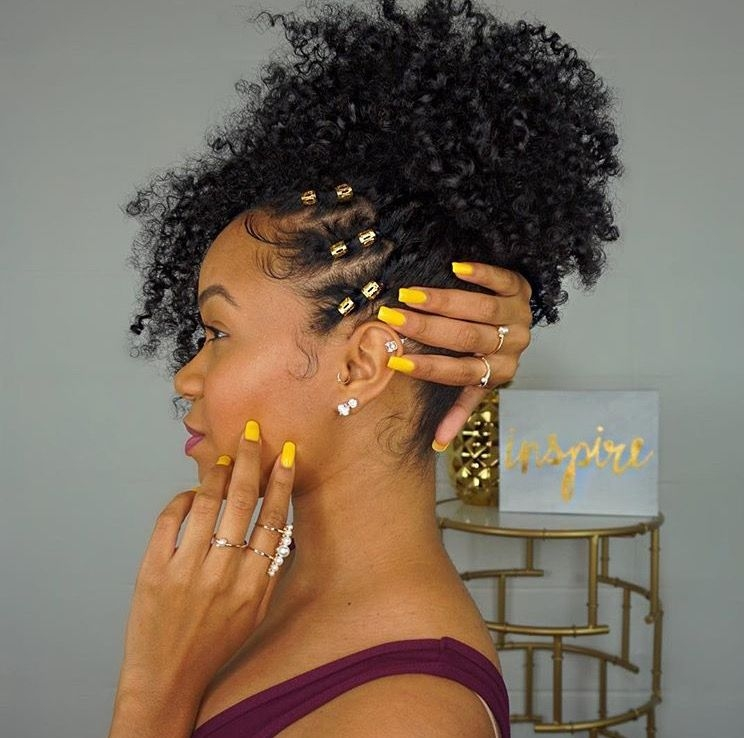 n a t u r a l h a i r curly hair styles natural hair Homecoming Hairstyles For African American Hair Ideas