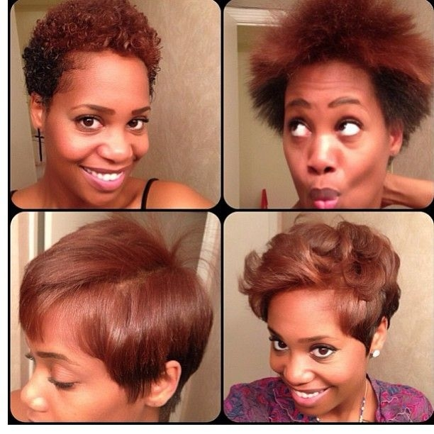 oooh cute natural hair blowout blowout hair short Styles For Short Straight Natural Hair Inspirations