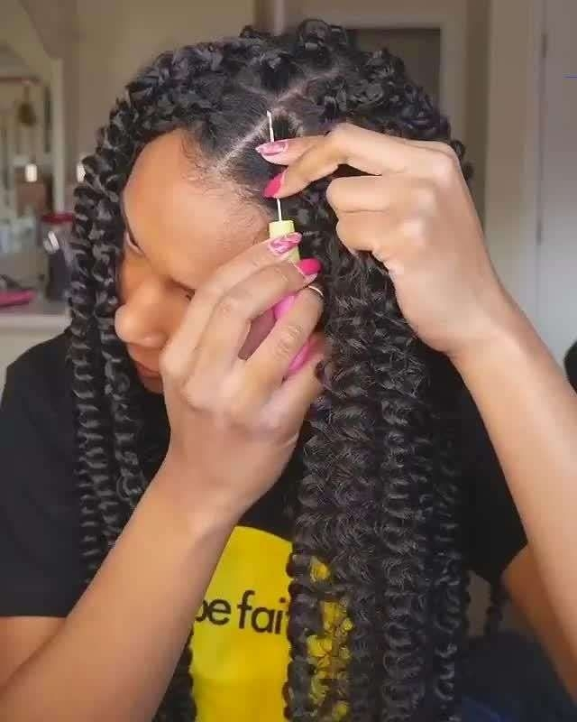 passion twists hair tutorial passiontwistshairstyle in Crocheted Ribbon Braided Hairstyle Choices