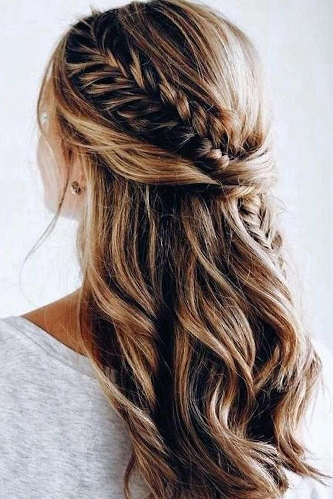 pin on beauty hair wedding Wedding Hairstyles For Long Hair Half Up Half Down With Braids Ideas