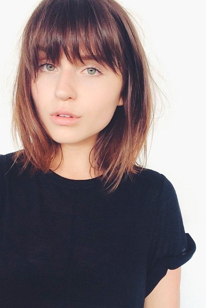 pin on chick shit Short Hairstyles For Round Faces With Bangs Choices