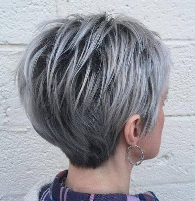 pin on gray hair color ideas Gray Short Haircuts Inspirations