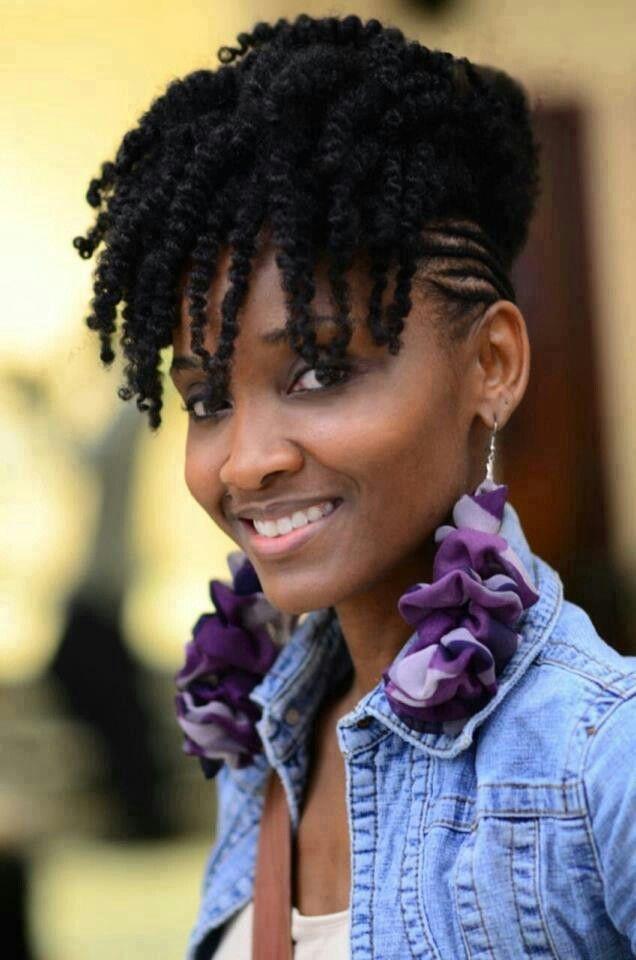pin on hair inc Natural Black Hair Braid Styles Inspirations
